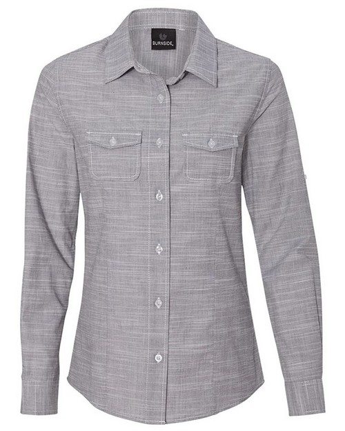 Burnside 5247 Ladies Woven Texture Shirt