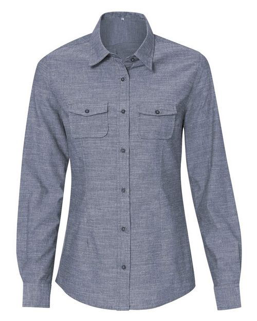 Burnside 5255 Womens Long Sleeve Chambray