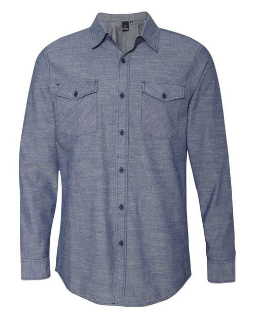 Burnside 8255 Chambray Long Sleeve Shirt