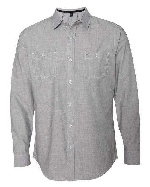 Burnside 8257 Mini-Check Long Sleeve Shirt