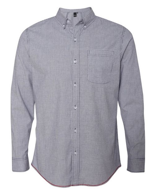 Burnside 8259 Stretch-Stripe Long Sleeve Shirt