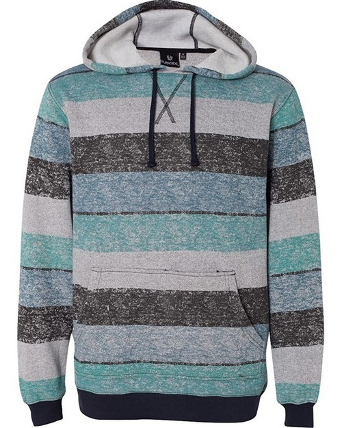 Burnside 8603 Printed Striped Marl Pullover