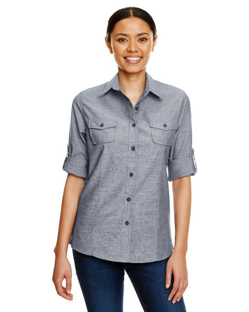 Burnside B5255 Ladies Chambray Woven Shirt