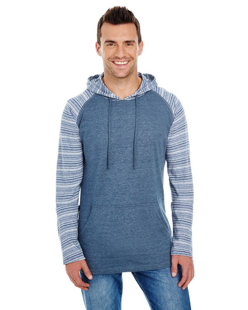 Burnside B8127 Adult Striped Sleeve Raglan Jersey