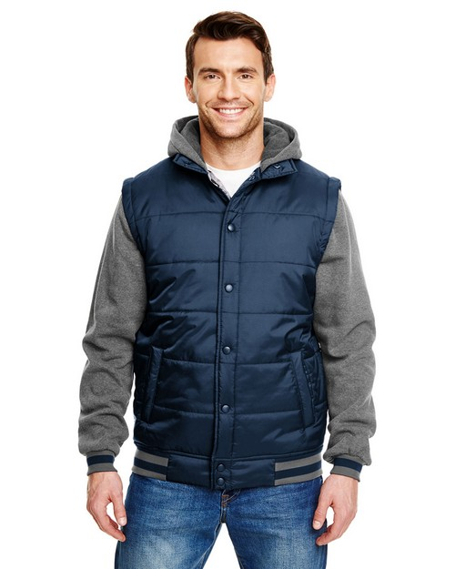 Burnside B8701 Adult Fleece Sleeeved Puffer Vest