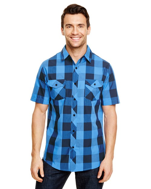 Burnside B9203 Mens Buffalo Plaid Woven Shirt