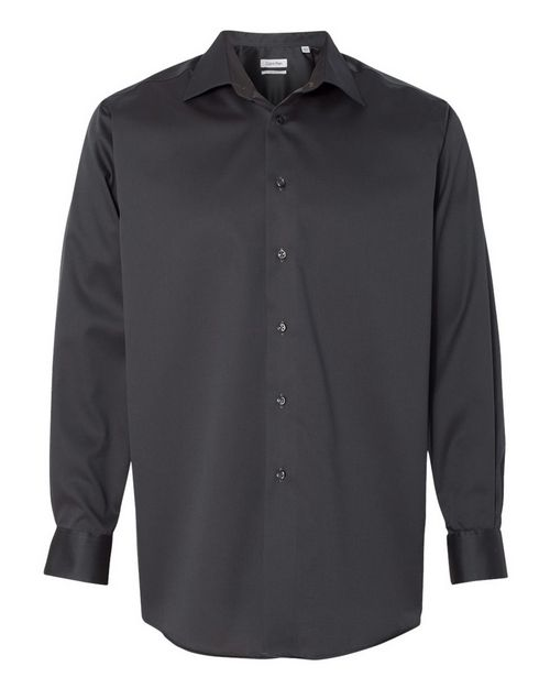 Calvin Klein 13CK033 Mens Non-Iron Micro Pincord Long Sleeve Shirt