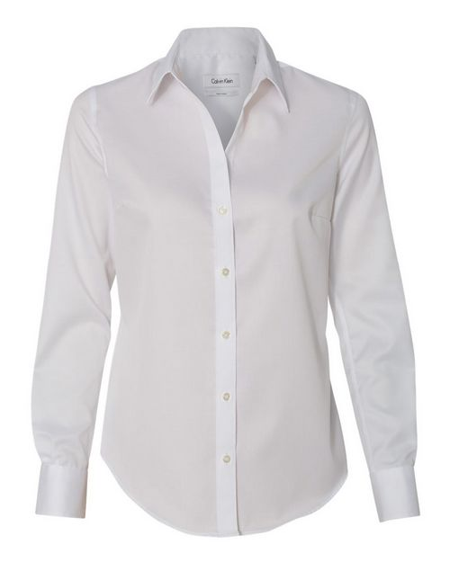 Calvin Klein 13CK034 Womens Non-Iron Micro Pincord Long Sleeve Shirt