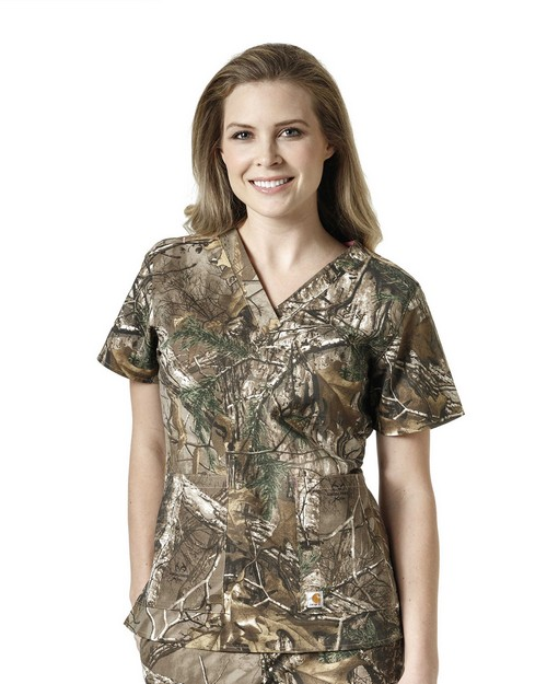 Carhartt C12405 Women's Printed V-Neck Top
