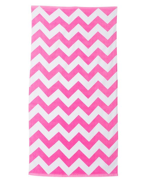 Carmel Towel Company C3060X Chevron Velour Beach Towel