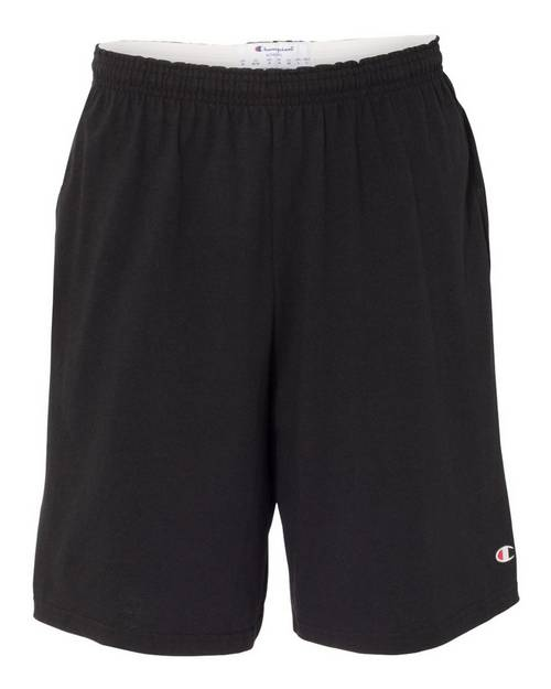 Champion 8180 9 Inch Inseam Cotton Jersey Shorts with Pockets