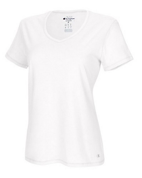 Champion 8875 Authentic Womens Jersey V-Neck Tee