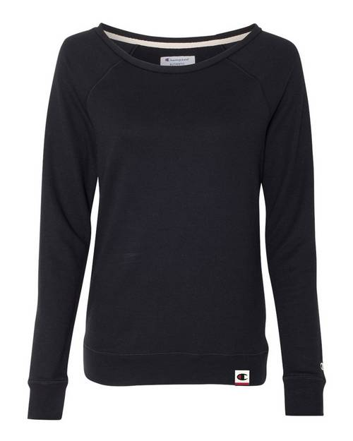 Champion AO550 Originals Womens French Terry Boat Neck Sweatshirt