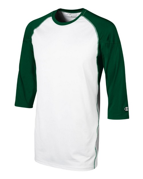 Champion BS50 Adult and Youth Long-Toss Double Dry 3/4 Sleeve T-Shirts