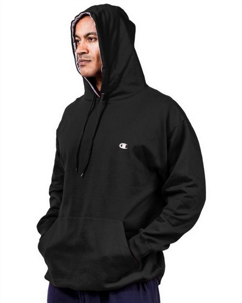 Champion CH101 Big & Tall Mens Pullover Fleece Hoodie with Contrast Liner