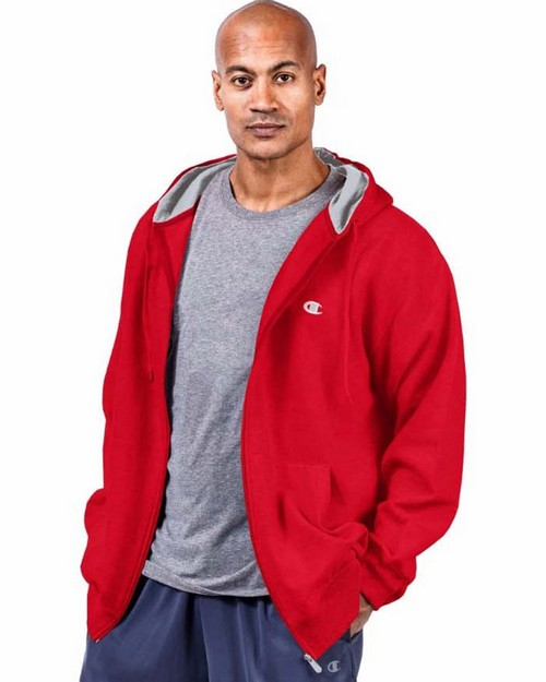 Champion CH105 Big & Tall Mens Zip Fleece Hoodie