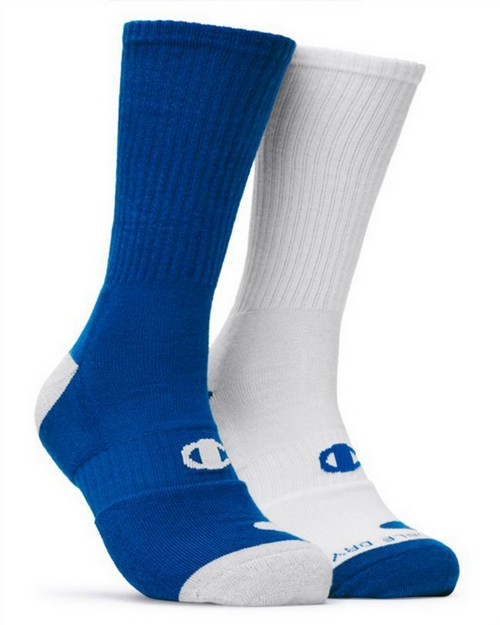 Champion CH120 Mens Basketball Crew Socks 2-Pack