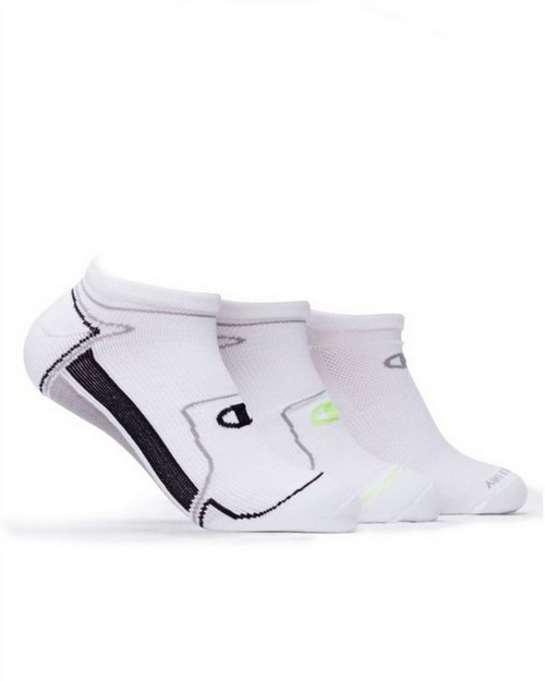 Champion CH210 Mens No-Show Running Socks 3-Pack