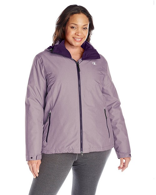 Champion Ch3002psb Womens Plus Technical Heather 3-In-1 Jacket With Microfleece Liner