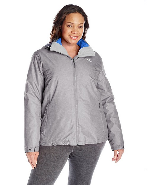 Champion Ch3002psb Womens Plus Technical Heather 3-In-1 Jacket