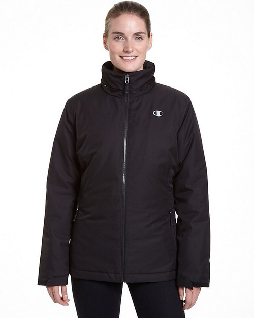 Champion Ch3002ps Womens Technical Heather 3-In-1 Jacket With Microfleece Liner