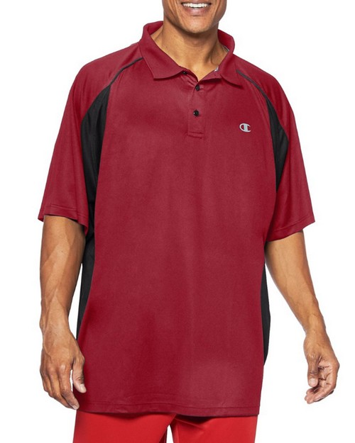 Champion CH455 Big & Tall Mens Performance Birdseye Polo