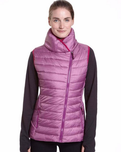Champion Ch7001pp Womens Assymetrical Zip Front Vest-Plus