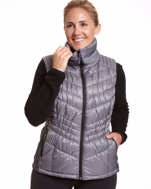Champion Ch7003hpb Womens Hybrid Performance Poly With Active Knit Vest-Plus