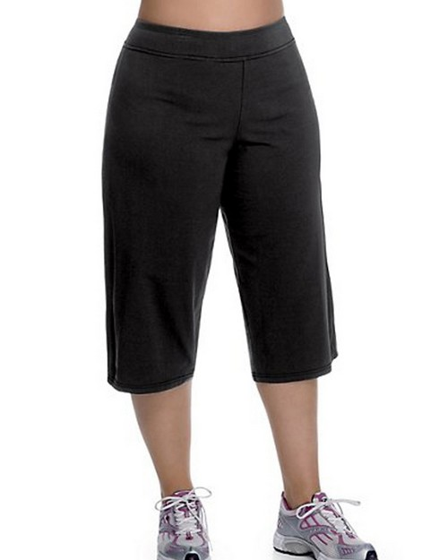 Champion CHJB92 Stretch-Cotton Semi-Fitted Plus-Size Womens Knee Pants