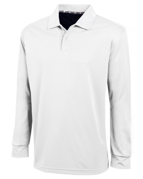 Champion H143 Mens Ultimate Double Dry Long Sleeve Polo Shirt