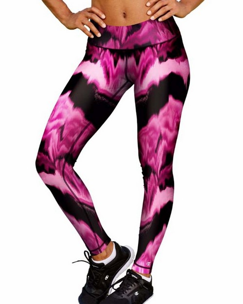 Champion M0130P Womens Absolute Printed Tights With SmoothTec Band