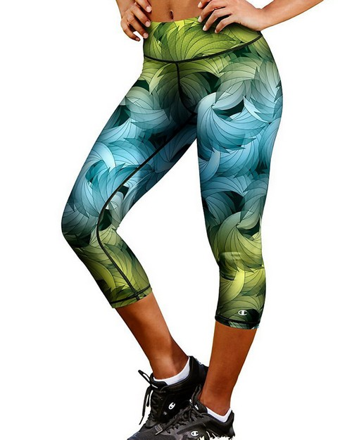 Champion M0554P Womens Absolute Printed Capris With SmoothTec Band