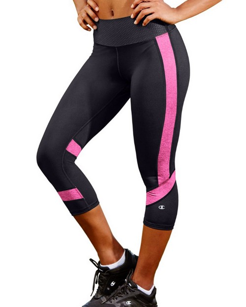 Champion M1256 Women Absolute Colorblock Capris With Smoothtec Waistband