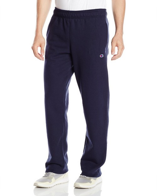 Champion P0893 Mens Powerblend Fleece Open Bottom Pants