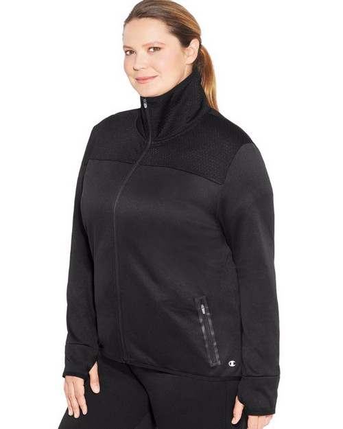 Champion QJ9910 Women Plus Premium Tech Fleece Full Zip Jacket
