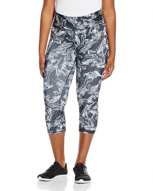 Champion QM0979P Womens Plus Absolute Printed Capris With SmoothTec Band