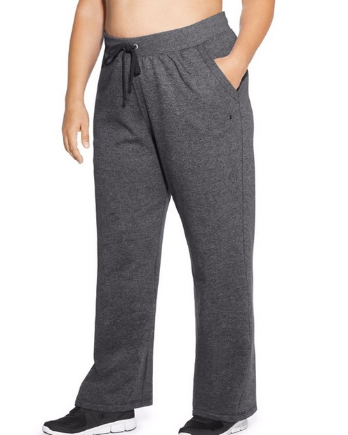 Champion QM4854 Women Plus Fleece Open Bottom Pant