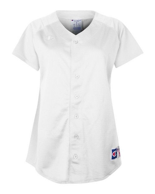 Champion SF87Y Juniors Full Button Short Sleeve Jersey