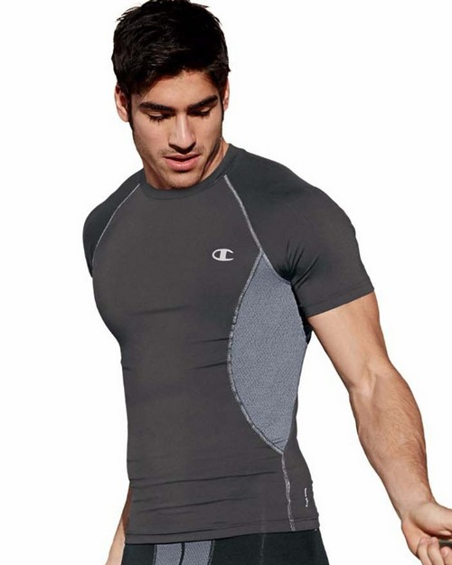Champion T0135T Gear Mens Compression Short-Sleeve Tee