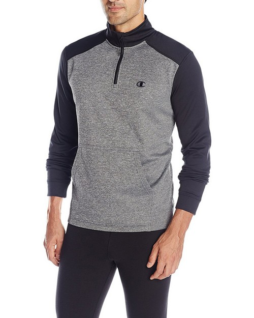 Champion T0876 Mens Tech Fleece 1/4 Zip Pullover