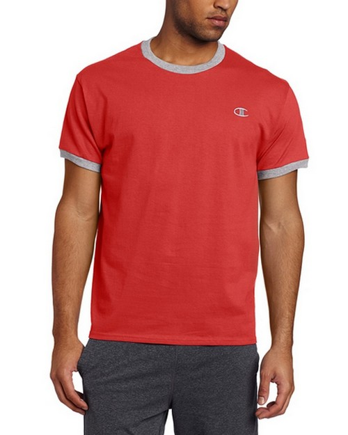 Champion T2232 Mens Jersey Ringer Tee