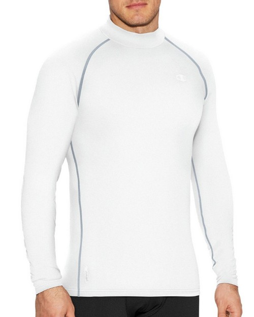 Champion T31123 Mens Cold Weather Mock Neck T-Shirt