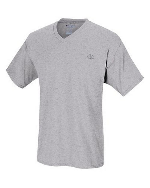 Champion T4651 Authentic Mens Jersey V-Neck T-Shirt