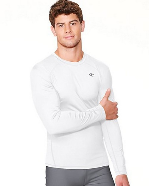 Champion T6607 Vapor PowerTrain Long Sleeve Colorblock Mens Tee