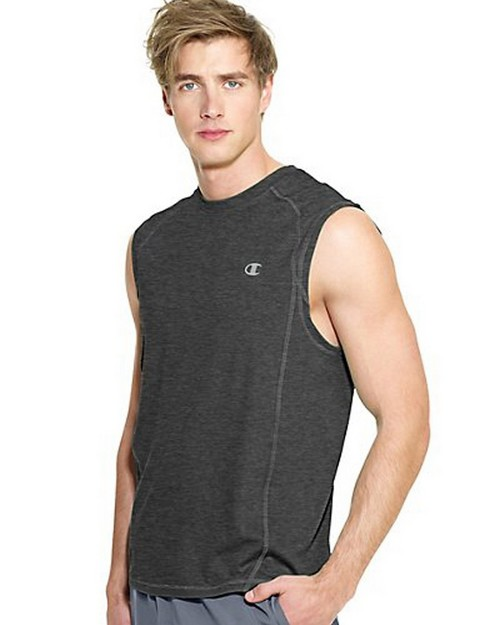 Champion T7296 PowerTrain Mens Colorblock Muscle Tee