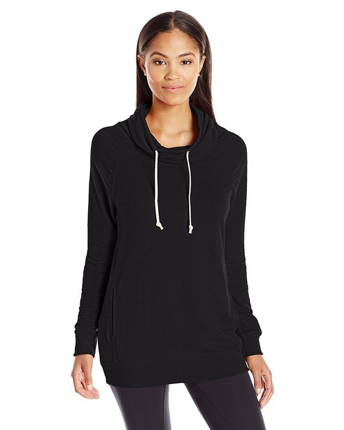 Champion W0942 Womens French Terry Funnel Neck Top