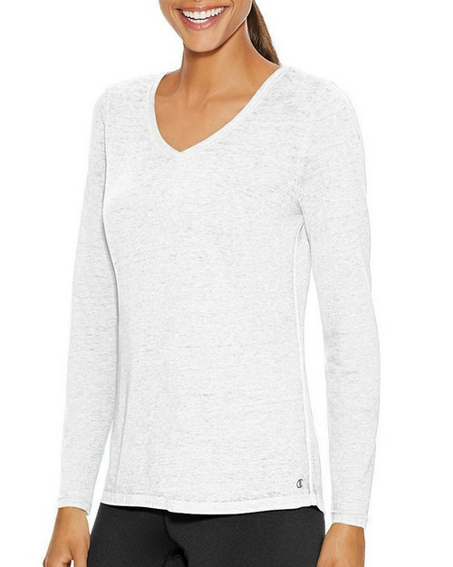 Champion W1273 Womens Authenic Wash Long Sleeve Tee