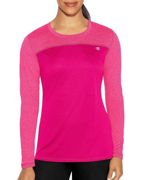 f10a4cbda8e0 Champion W29897 Womens C Vapor Heather Long Sleeve Tee. Decoration. Model  image. May not reflect selected color. No Picture. No Picture