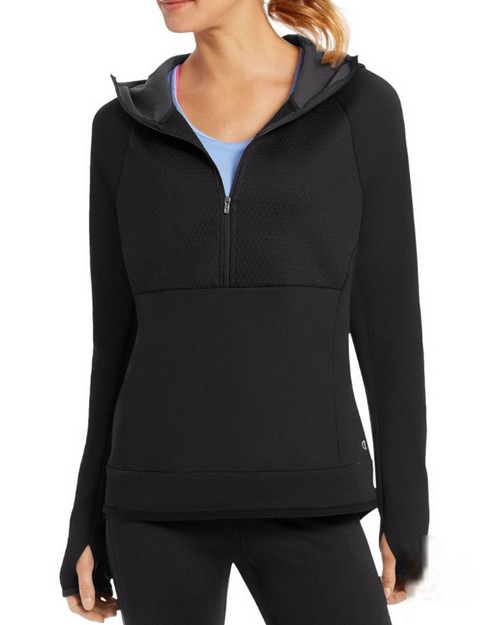 Champion W29908 Womens Premium Tech Fleece 1/2 Zip Hoodie
