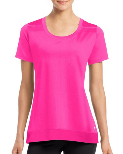Champion W29917 Womens Absolute Mesh Short Sleeve Tee